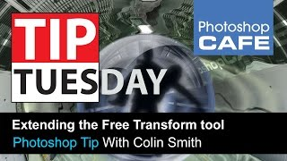 Extending the free transform tool in Photoshop | PhotoshopCAFE Tutorial