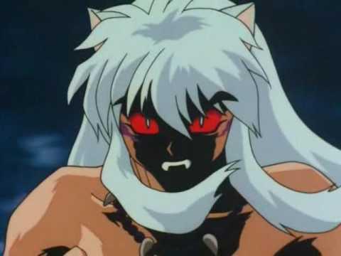 inuyasha  y su transformacion en demonio