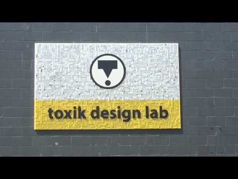 toxic lab sequin air moving signage