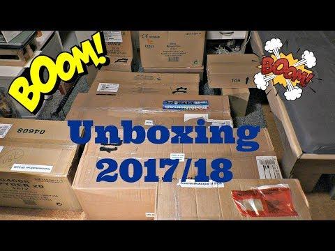 XXL Feuerwerk Unboxing von Toschpyro und Feuerwerksvitrine 2017/18