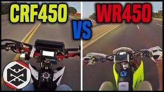 10. CRF450 vs WR450!! (Supermoto)