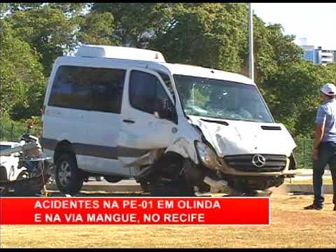 [RONDA GERAL] Acidentes na PE-01 em Olinda e na Via Mangue, no Recife