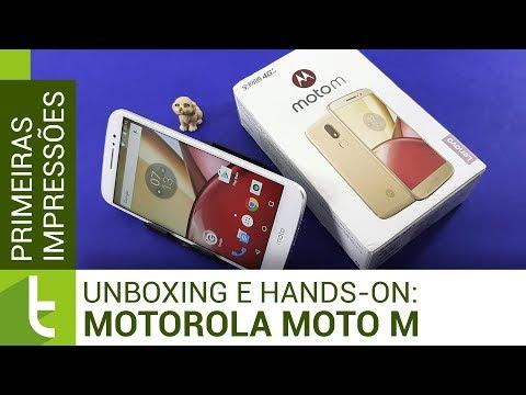 Unboxing e primeiras impressões do Motorola Moto M  TudoCelular.com