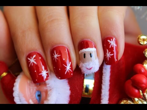 #33 Santa Claus Nail art Tutorial