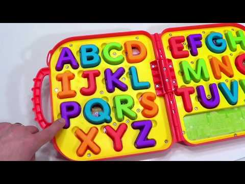 Best ABCs 123s Learning Video for Kids! Cute Kid Genevieve Teaches Letters and Counting!