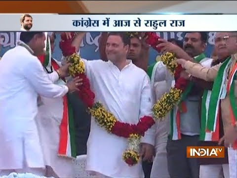 Rahul Gandhi Elected Party President Unopposed