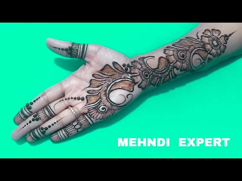 Video Simple and Beautiful Arabic flower Mehndi Design for Hands ll Step by step tutorial download in MP3, 3GP, MP4, WEBM, AVI, FLV January 2017