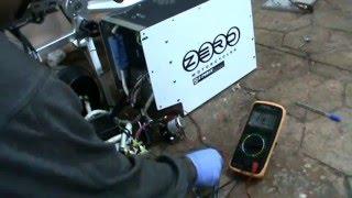 4. VERIFICANDO CONTACTOR moto eléctrica ZERO DS 2010 y 2011