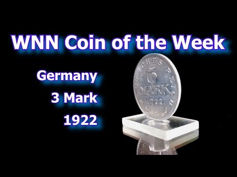 Coin of the Week : German 1922 3 Mark Coin