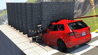 Satisfying Slow Motion Crashes - BeamNG Drive Car/Bus/Truck Crash Testing
