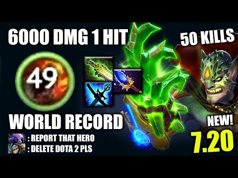 OMG WORLD RECORD! 6000 Dmg 1 Hit 50 Kills Lion Craziest META The MOST IMBA 7.20 Dota 2