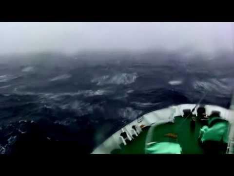 Southern Ocean, rough sea, on board of MV Ortelius.
