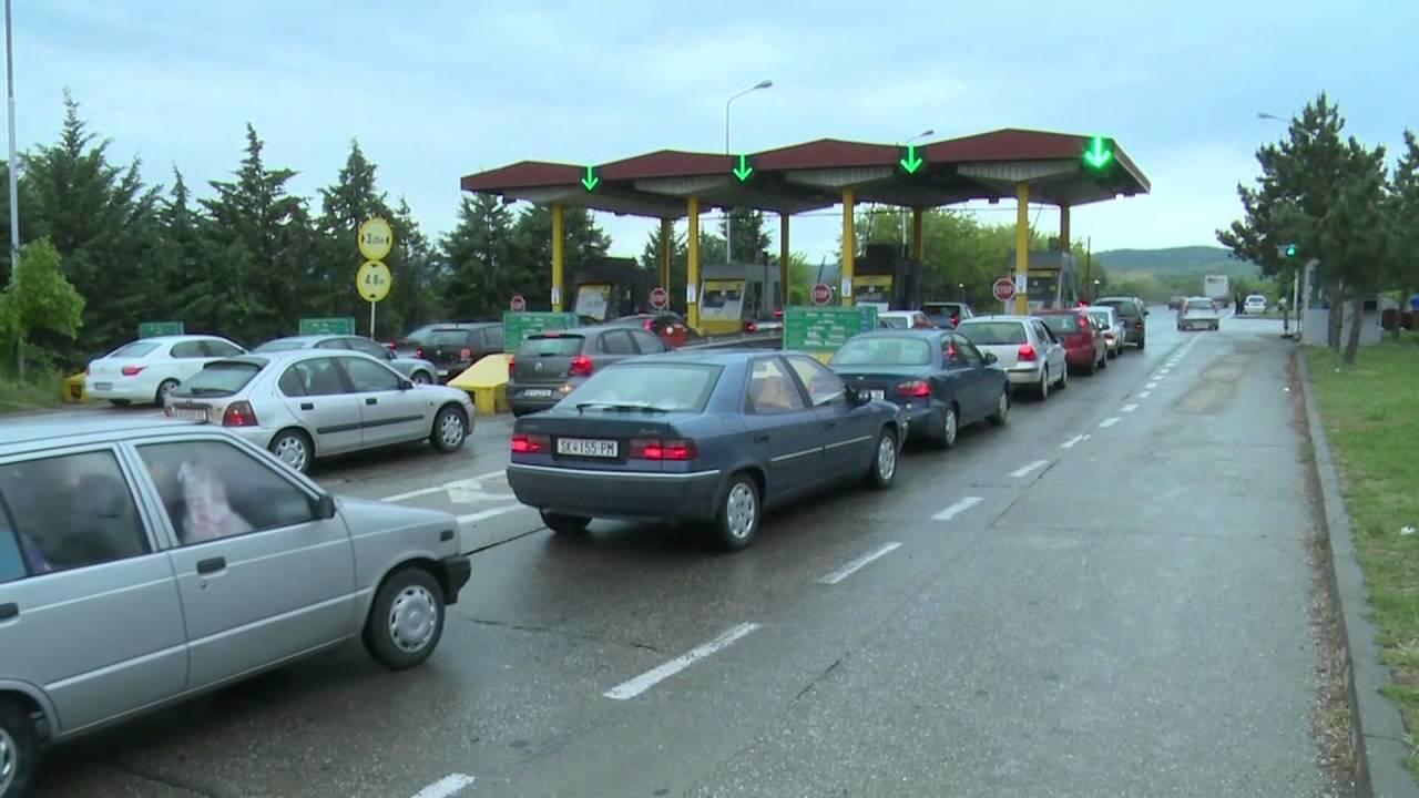 Голем сообраќаен метеж – Наплатна станица близу Велес