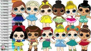 Video LOL Surprise Dolls Repainted as Disney Princesses Coloring Book Compilation Ariel Tiana Belle Merida MP3, 3GP, MP4, WEBM, AVI, FLV Juni 2019