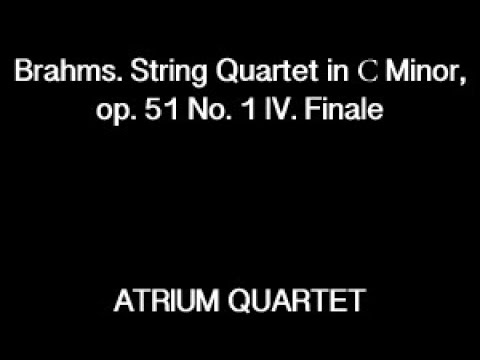 Brahms. Quartet No. 1 Final