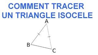 Maths 6ème - Les Bases De La Géométrie : Le triangle isocèle Exercice 15