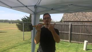 How to set up, secure & tear down a 10x10 easy up canopy tent.