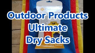 """A review and Bluecollar testing of Outdoor Products Ultimate Dry Sacks with a little help from Johnny.They come 3 to a package10.6 L 4.1 L 2.1 LThe quality is pretty surprising For a set that costs $9.98 """"Music by Evan Schaeffer https://soundcloud.com/evanschaeffer."""" """"Music More details at http://www.EvanSchaefferMusic.com"""
