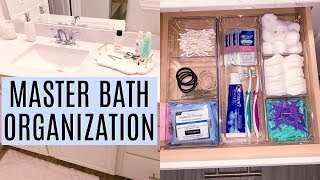 MASTER BATHROOM ORGANIZATION IDEAS    Organize with me 2019   Tara Henderson