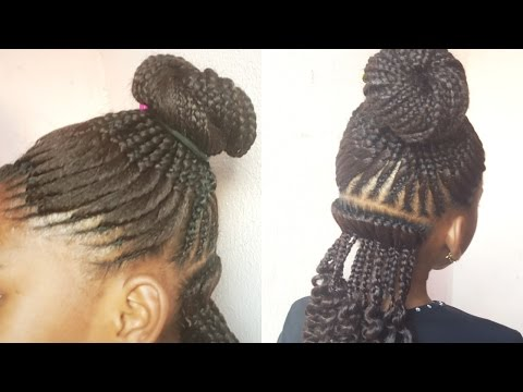 HOW TO: FISH BONE CORNROW (1ST) KIDS HAIRSTYLE