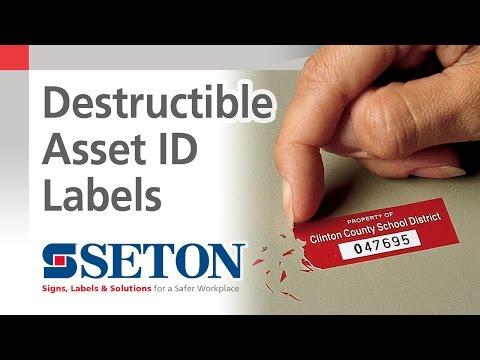 Destructible Asset ID Labels | Seton Video