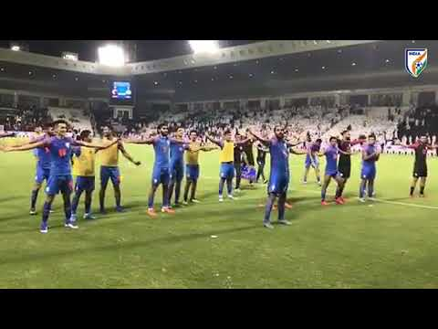 INDIAN PLAYERS & FANS DO VIKING CLAP CELEBRATION AFTER GAME VS QATAR 🔥🔥🔥😍