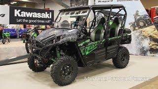 1. 2020 Kawasaki Teryx4 Camo  All-Terrain Vehicle Powered by V-twin 783 cc Engine