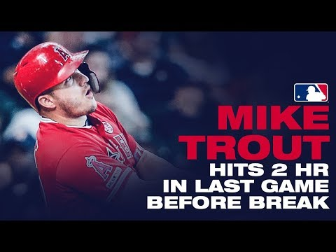 Video: Trout hammers two home runs against the Astros