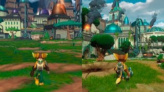 Nonton Ratchet   Clank   Original Vs Remake Comparison   Comparativa Ps2 Ps4 Film Subtitle Indonesia Streaming Movie Download
