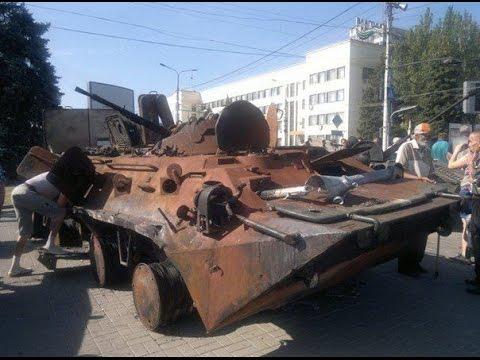 Битая укро техника в Донецке! парад