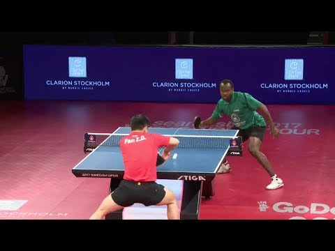 2017 Swedish Open (MS-QF) FAN Zhendong Vs ARUNA Quadri [Full Match/English|1080p]