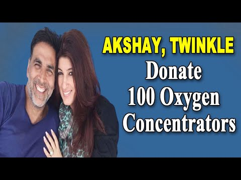 Akshay Kumar Twinkle Khanna donate 100 oxygen concentrators for Covid19 patients