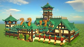How to Build a JAPANESE CASTLE / FORTRESS in Minecraft!!