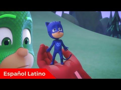Pj Masks Heroes en Pijamas en español latino Catboy y el rayo reductor episodio 4