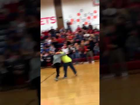 My cousin has down syndrome and loves basketball. Last week he nailed a backwards half-court shot during halftime!
