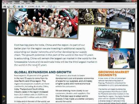 strategic planning ford motor co