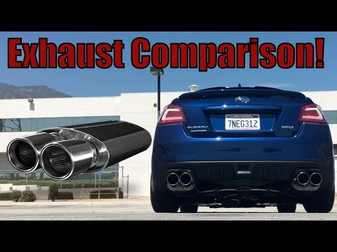 2015 - 2017 Subaru WRX Exhaust Comparison Invidia, Magnaflow, X-force (видео)