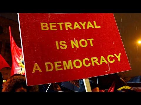 ΠΓΔΜ: Διαδήλωση κατά της συμφωνίας των Πρεσπών