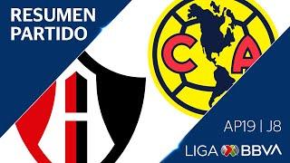 Resumen y Goles | Atlas vs América | Jornada 8  - Apertura 2019 | Liga BBVA MX