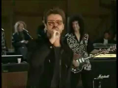 Джордж Майкл поет Somebody To Love на репетиции живое выступление
