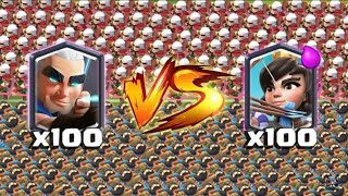 Video ¡¡100 ARQUEROS MÁGICOS vs 100 PRINCESAS!! ¿QUIÉN GANARÁ? Enfrentamientos Clash Royale - [Rubikay] MP3, 3GP, MP4, WEBM, AVI, FLV September 2019