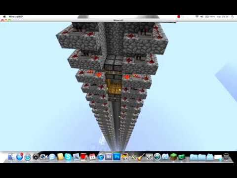 minecraft 1.8.1 - piston ascensore 8