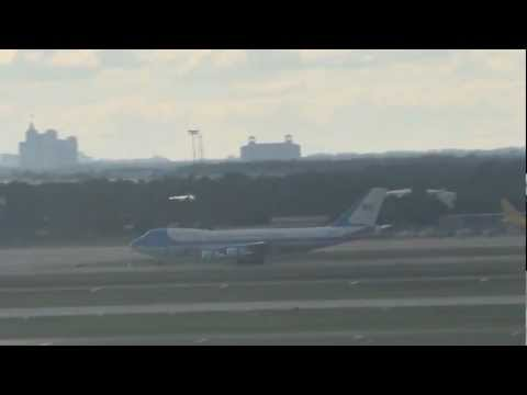 Air Force One arrives at Orlando International Airport - 11 October 2011