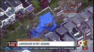 Retaining wall collapse sends hillside into two Mount Adams homes