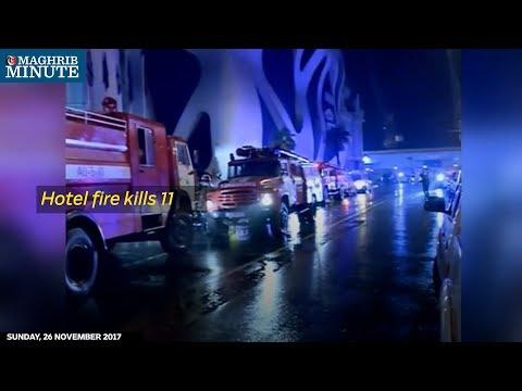A fire in a hotel in Georgia's Black Sea resort city of Batumi killed 11 people