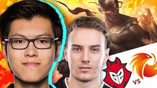 MikeYeung and Phoenix1 take on Perkz and G2 on the second day of the 2017 Rift Rivals tournament. Will the rookie jungler be able to lead his team to victory?