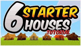6 Starter Houses In Minecraft |  How To Build A Small Survival House Tutorial | Underground Base