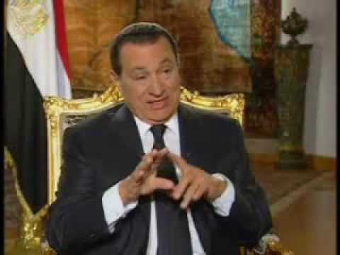 mubarak - The journalist Charlie Rose (PBS channel) interviews Egyptian president, Hosni Mubarak. This is the first part. I hardly recommend it.