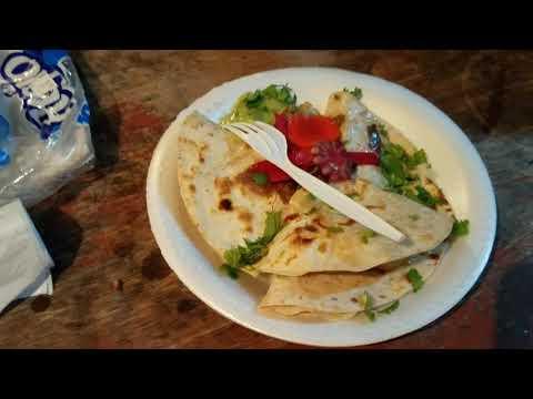 West End Roatan, Honduras. Street food. Tacos and quesadillas