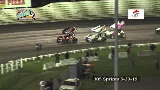 Knoxville Raceway 305 Sprints 5-23-15